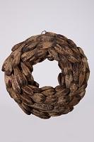 Mahogany Half Cut Wreath 38cm