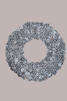 Wreath Blue Pine Half Cut 65cm