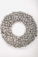 Stone Wreath 48cm Nat in the Gray Atta F