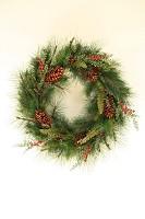Wreath Deluxe Sugar Pine w/Greenery
